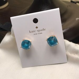 Kate Spade Small Square Turquoise Earring Studs